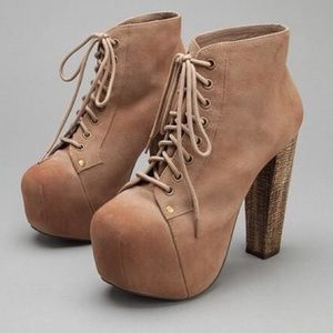 Jeffree Campbell Lita Taupe Suede Size 8